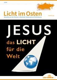LICHTIMOSTEN_2/2016 Jesus das Licht für die Welt