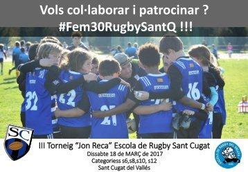 III Torneig Escola de Rugby Sant Cugat PATROCINI 2017vs3