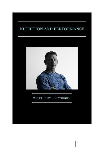 nutrition and performance book
