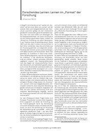"""Forschendes Lernen: Lernen im """"Format"""" der Forschung - im zhb"""