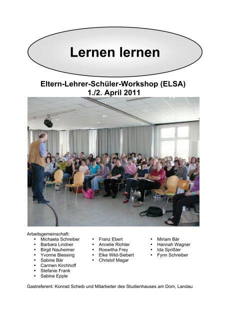 """ELSA Workshop 2011: """"Lernen lernen"""""""