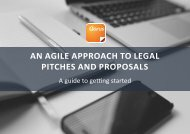 AN AGILE APPROACH TO LEGAL PITCHES AND PROPOSALS
