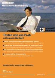 Texten wie ein Profi - ZfU - International Business School