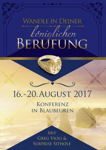 Konferenz Blaubeuren 2017 DE