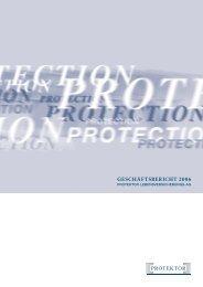 GESCHÄFTSBERICHT 2006 - Protektor Lebensversicherungs-AG