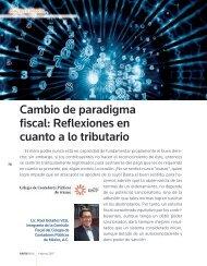 Cambio de paradigma fiscal Reflexiones en cuanto a lo tributario