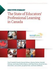 The State of Educators' Professional Learning in Canada