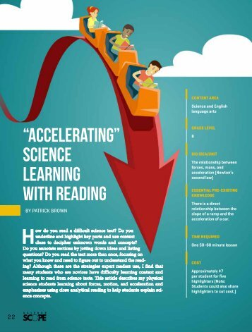 """Accelerating"" Science Learning With Reading"