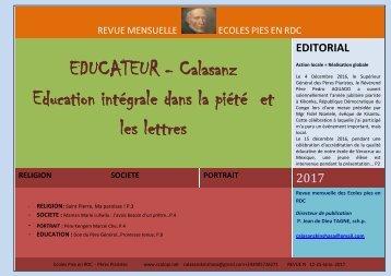 EDUCATEUR - Calasanz Education intégrale dans la piété et les lettres