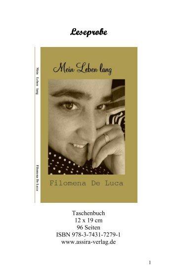 Leseprobe Mein Leben lang von Filomena De Luca