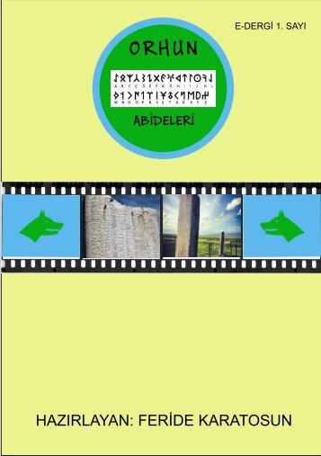 E-Dergi ( Köktürk Yazıtları)