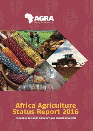 AFRICA AGRICULTURE STATUS REPORT 2016