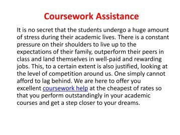 Coursework Assistance Online From Experts of MyAssignmenthelp.com