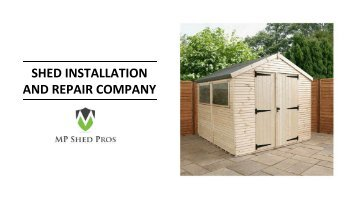 Shed Installation and Repair Service Company