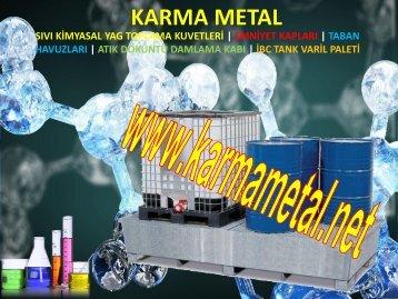 Tehlikeli kimyasal toplama kuveti Sizdirmaz atik sivi depolama paleti KARMA METAL