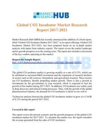 Global CO2 Incubator Market Research Report 2017-2021