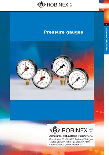 Product Catalogue - Pressure & Temperature Gauges