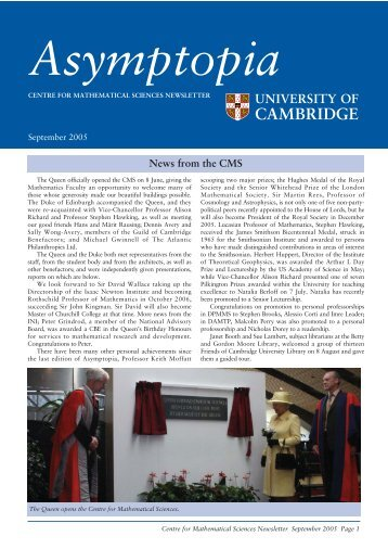 News from the CMS - Faculty of Mathematics