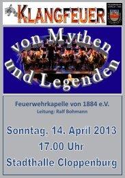 Inhalt Konzert 2013