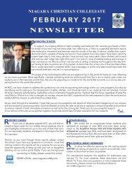 NCC February 2017 Newsletter
