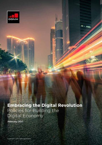 Embracing the Digital Revolution Policies for Building the Digital Economy