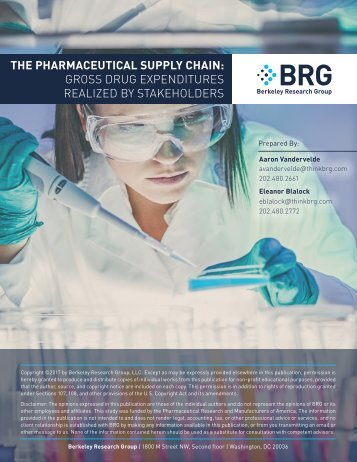 THE PHARMACEUTICAL SUPPLY CHAIN GROSS DRUG EXPENDITURES REALIZED BY STAKEHOLDERS