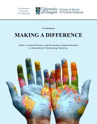 Making A Difference - Ideals, Common Practice, and Increasing Commercialisation in International Volunteering Narratives