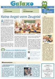 Keine Angst vorm Zeugnis! - Mitteldeutsche Zeitung
