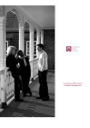Second-Year MBA projects in Media Management - bei der ...