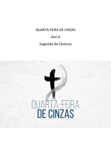 QUARTA-FEIRA DE CINZAS - Ano A