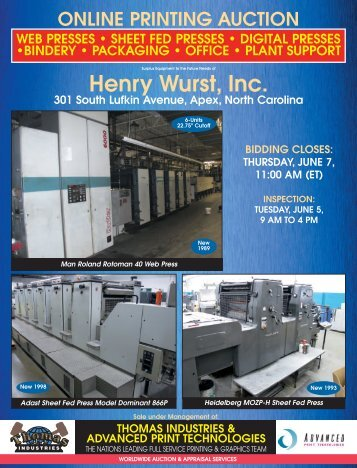 Henry Wurst, Inc. - Thomas Industries