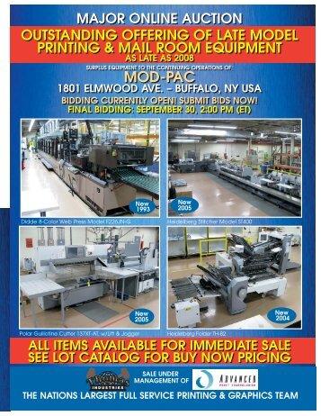 major online auction - Thomas Industries