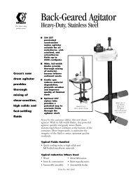 305760E , Back-Geared Agitator Heavy-Duty, Stainless steel