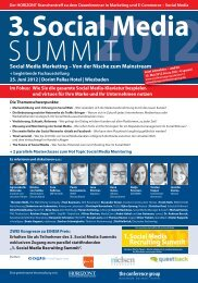 1. Social Media Recruiting Summit - The Conference Group GmbH