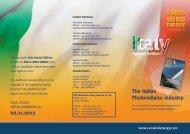 The Italian Photovoltaics industry 02.11.2012 - AvaniMedia