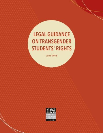 LEGAL GUIDANCE ON TRANSGENDER STUDENTS' RIGHTS