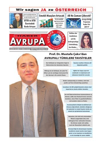 EUROPA JOURNAL - HABER AVRUPA FEBRUAR2017