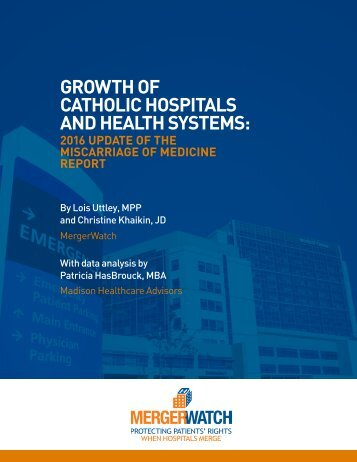 CATHOLIC HOSPITALS AND HEALTH SYSTEMS