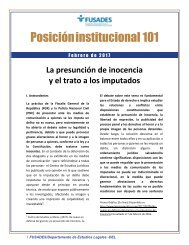 Posición institucional 101