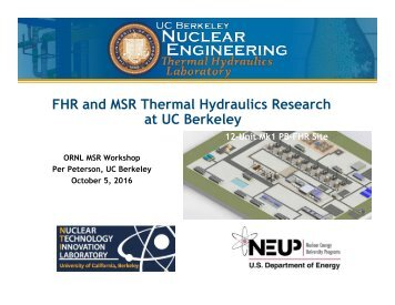 FHR and MSR Thermal Hydraulics Research at UC Berkeley