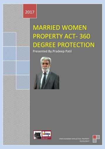 Married Women Property Act-360 Degree Protection By.Pradeep Patil