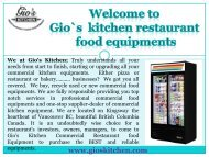 Used Restaurant Equipments Vancouver | gioskitchen