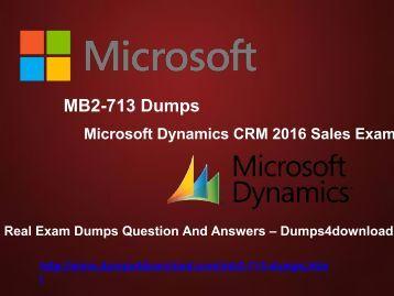 Free MB2-713 Dumps PDF - Dumps4download.com