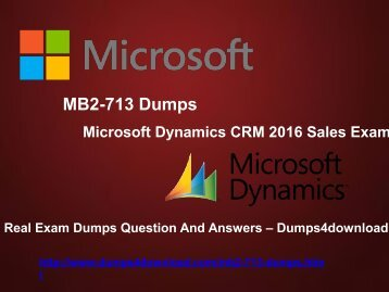 Free MB2-713 Dumps PDF - Dumps4download.com