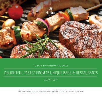 Hilton Abu Dhabi Offers March 2017