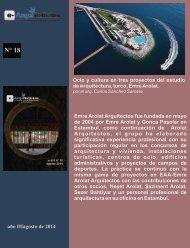 Ocio y cultura en tres proyectos del estudio de Arquitectura, turco, Emre Arolat