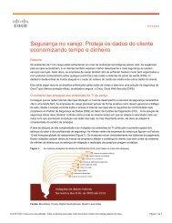 Segurança no varejo Proteja os dados do cliente economizando tempo e dinheiro
