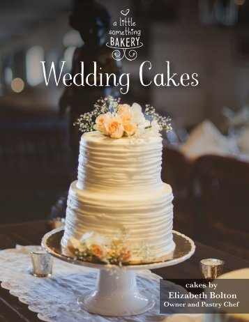 wedding cake brochure celebrate 22103