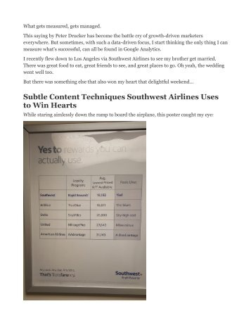 Subtle Content Techniques Southwest Airlines Uses to Win Hearts