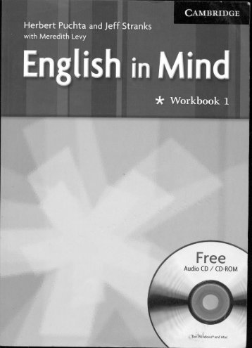 ENGLISH IN MIND 1 WORKBOOK